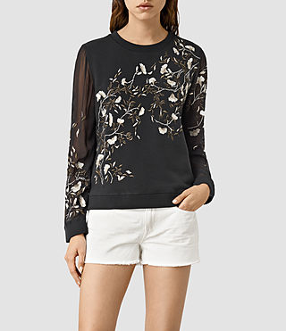 Womens Lo Amarey Sweatshirt (Washed Black)