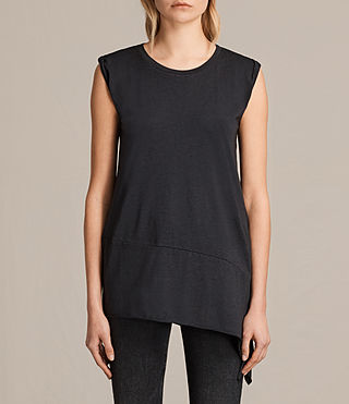 Womens Lauryn Sleeveless Tee (DARK NIGHT BLUE) - product_image_alt_text_1