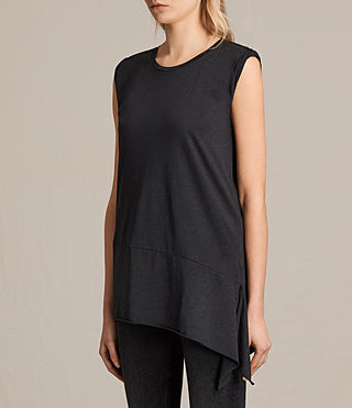 Womens Lauryn Sleeveless Tee (DARK NIGHT BLUE) - product_image_alt_text_2