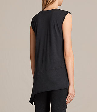 Womens Lauryn Sleeveless Tee (DARK NIGHT BLUE) - product_image_alt_text_3