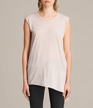 Womens Lauryn Sleeveless Tee (CAMI PINK) - product_image_alt_text_1