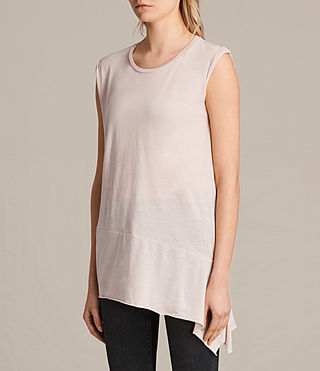 Womens Lauryn Sleeveless Tee (CAMI PINK) - product_image_alt_text_2
