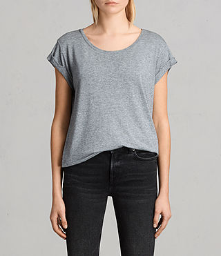 Women's Alisee Tee (PEPPER BLACK) -