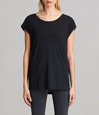 Donne T-shirt Alisee (Black) - Image 1