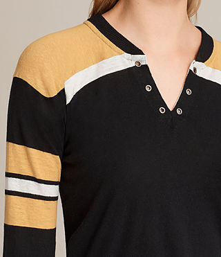 Womens Grace Tee (BLACK/YELLOW/CHALK) - product_image_alt_text_2