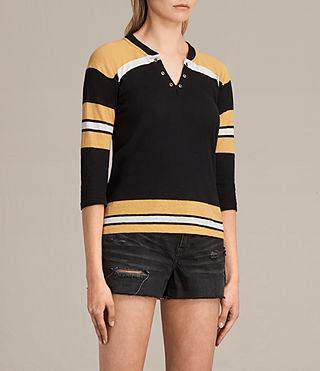 Women's Grace Tee (BLACK/YELLOW/CHALK) - product_image_alt_text_3