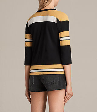 Womens Grace Tee (BLACK/YELLOW/CHALK) - product_image_alt_text_4