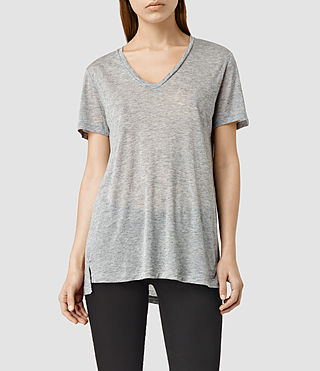 Womens Ines Tee (Grey Marl)
