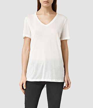 Womens Ines Tee (Chalk/White)