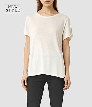 Womens Mazzy Tee (Chalk White)