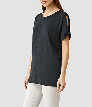 Womens Mazzy Tee (DARK NIGHT BLUE)