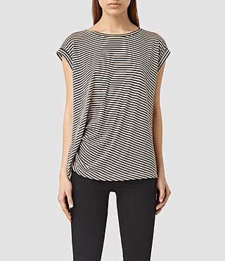Damen Moon Bar Tee (COAL BLK/ECRU BRWN)