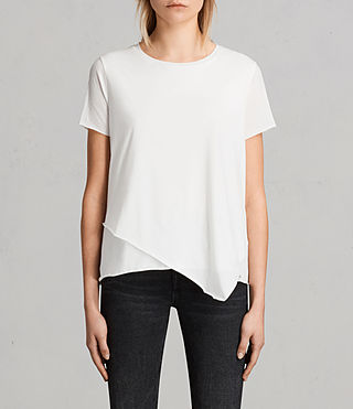 Damen Daisy Tee (Chalk White)