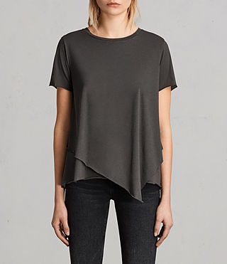 Womens Daisy Tee (PIRATE BLACK) - Image 1