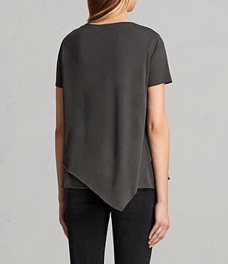 Womens Daisy Tee (PIRATE BLACK) - Image 2