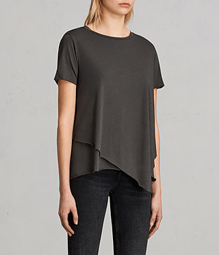 Womens Daisy Tee (PIRATE BLACK) - Image 3