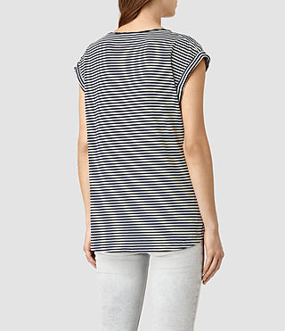 Damen Moon Bar V Tee (ChalkWhite/InkBlue) - product_image_alt_text_3