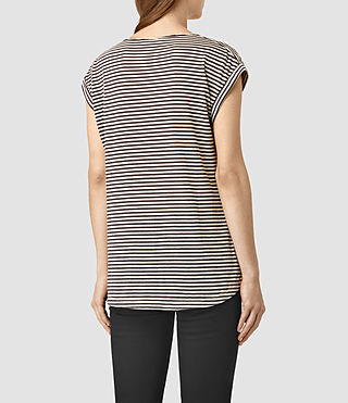 Womens Moon Bar V Tee (COAL BLK/ECRU BRWN) - product_image_alt_text_3