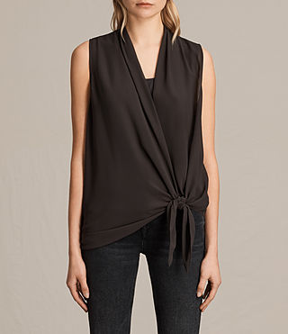 Womens Ava Tie Top (ANTHRACITE GREY) - product_image_alt_text_1