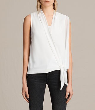Women's Ava Tie Top (Chalk White) -