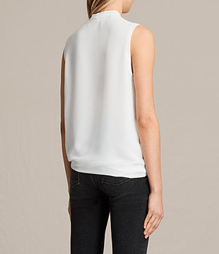 Womens Ava Tie Top (Chalk White) - product_image_alt_text_3