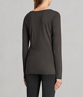 Women's Vetten Long Sleeve Tee (Washed Black) - product_image_alt_text_3