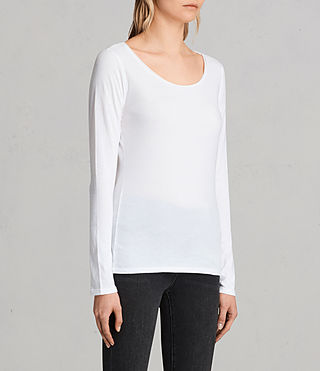 Womens Vetten Long Sleeve Tee (Optic White) - product_image_alt_text_2