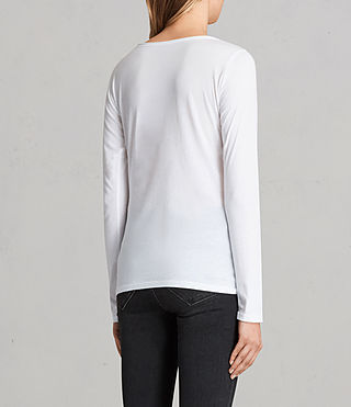Womens Vetten Long Sleeve Tee (Optic White) - product_image_alt_text_3