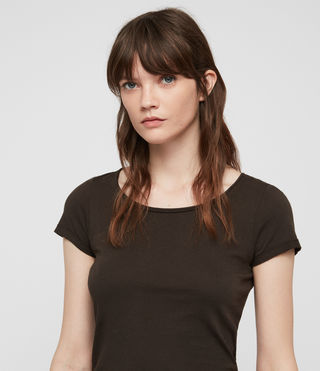 Womens Vetten Tee (Washed Black) - product_image_alt_text_2