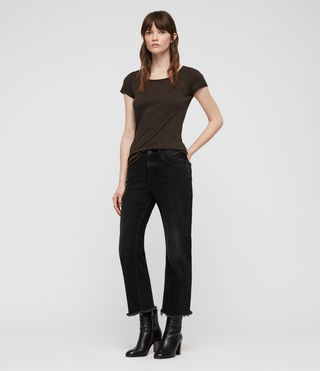 Womens Vetten Tee (Washed Black) - product_image_alt_text_3