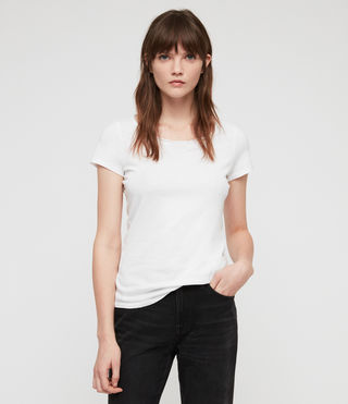 Femmes T-shirt Vetten (Optic White)