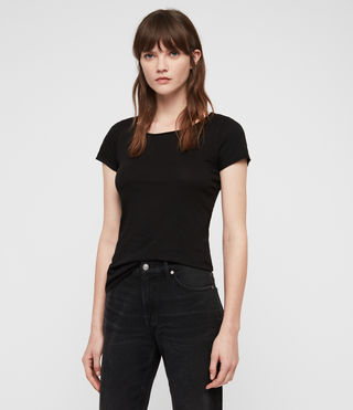 Damen Vetten T-Shirt (Black) - Image 1