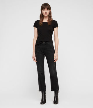 Damen Vetten T-Shirt (Black) - Image 3