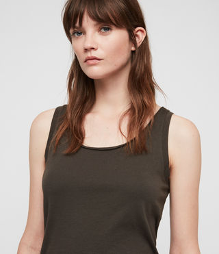 Womens Vetten Tank (Washed Black) - product_image_alt_text_2