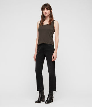 Womens Vetten Tank (Washed Black) - product_image_alt_text_3