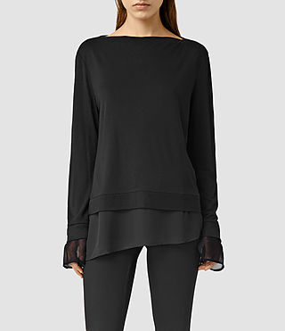 Women's Parel Top (Black/Black) -