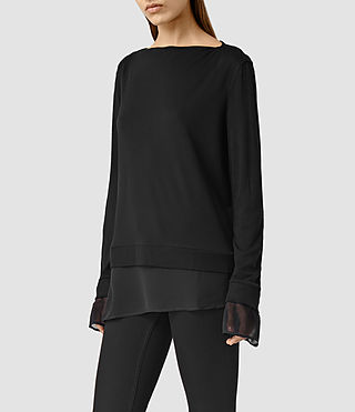 Womens Parel Top (Black/Black) - product_image_alt_text_2