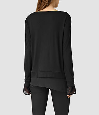 Women's Parel Top (Black/Black) - product_image_alt_text_3