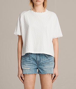 Womens Trixi Crop Tee (Chalk White) - product_image_alt_text_1