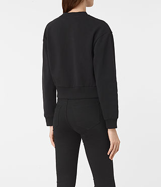 Femmes Wire Cropped Sweat (Washed Black) - product_image_alt_text_4
