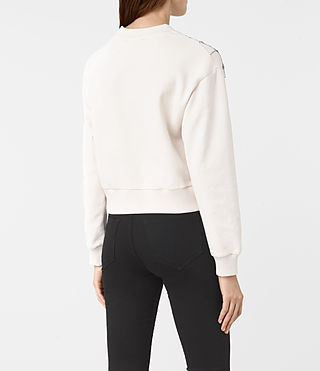 Mujer Wire Embellished Sweatshirt (OYSTER WHITE) - product_image_alt_text_4