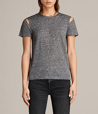Womens Dani Tee (Charcoal Marl) - product_image_alt_text_1