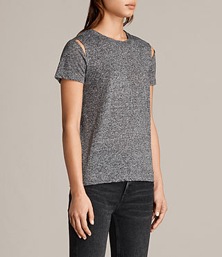 Womens Dani Tee (Charcoal Marl) - product_image_alt_text_2
