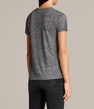 Womens Dani Tee (Charcoal Marl) - product_image_alt_text_3
