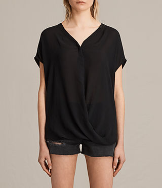 Damen Twist Top (Black) -