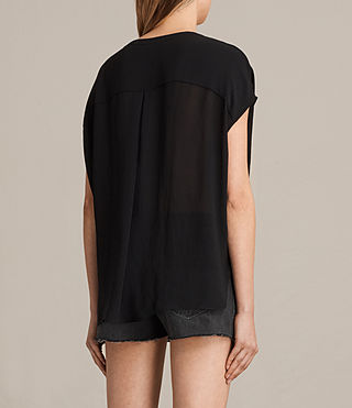 Damen Twist Top (Black) - product_image_alt_text_3
