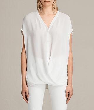 Damen Twist Top (Chalk) - Image 1