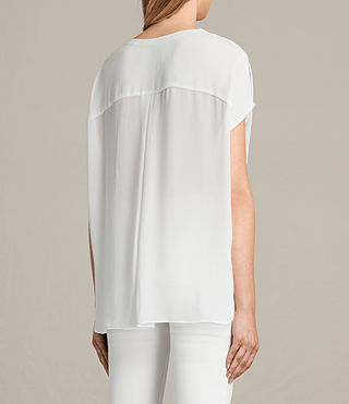 Women's Twist Top (Chalk) - product_image_alt_text_3