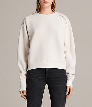 Women's Gilda Sweat (CHALK WHITE/TAUPE) - Image 1