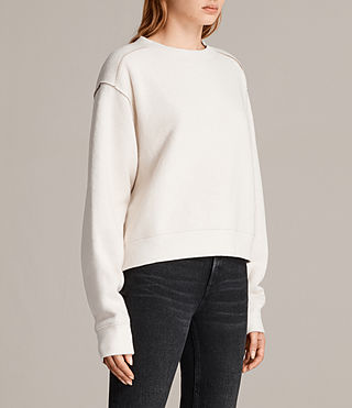 Women's Gilda Sweat (CHALK WHITE/TAUPE) - Image 3